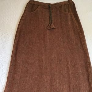 vintage hand woven skirt . Tribe . made in Nepal